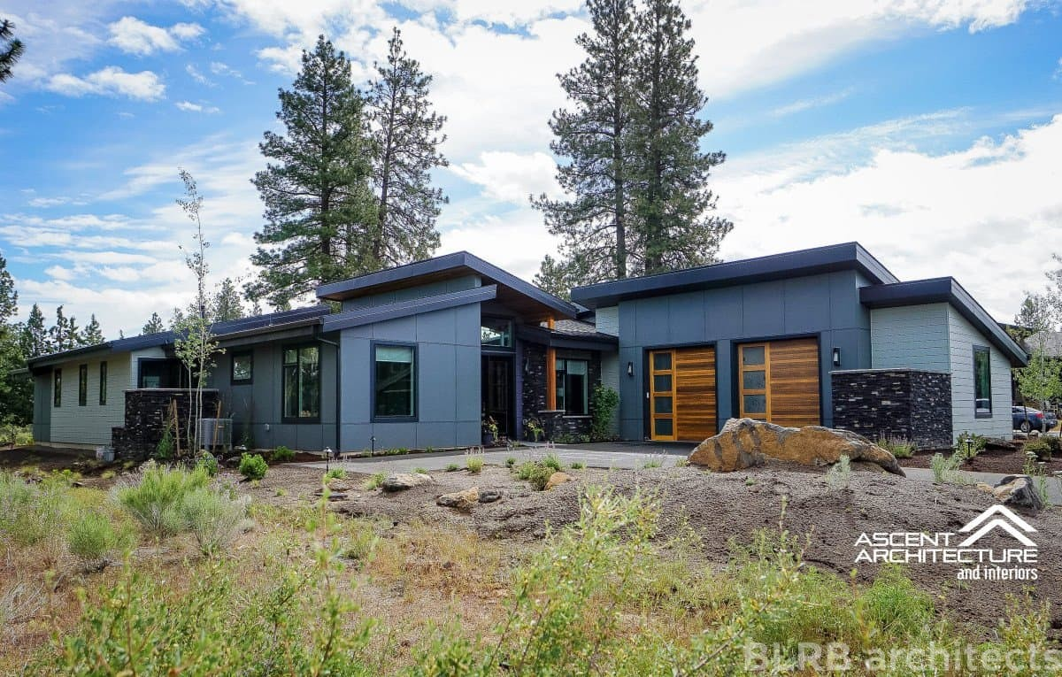 Tetherow custom residence ascent architecture for Custom home design bend oregon