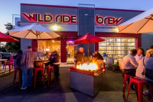 Wild Ride Brewery outdoor patio designed by Ascent Architecture & Interiors