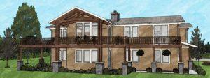 Custom residence rendering in Alfalfa, Oregon