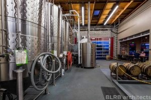 The brewery's production area is designed to allow maximum viability of equipment from the tap room.