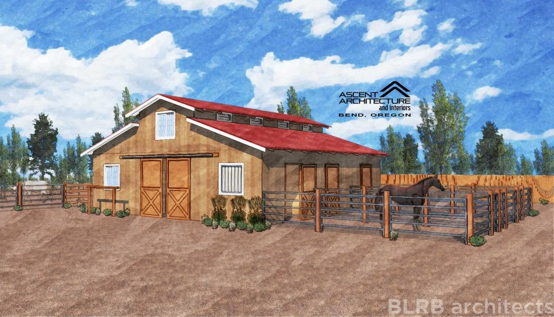 Small horse barn ascent architecture interiors bend for Horse farm house plans
