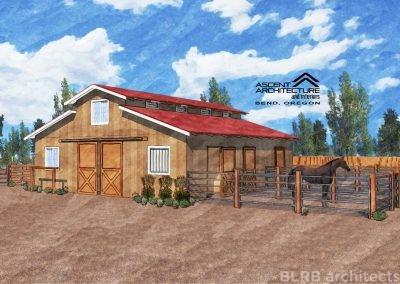 Small Horse Barn