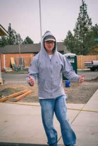 Team member at Habitat for Humanity community service day