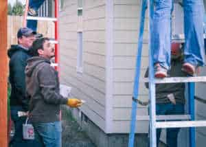 Ascent Team helping at the Habitat for Humanity community service day