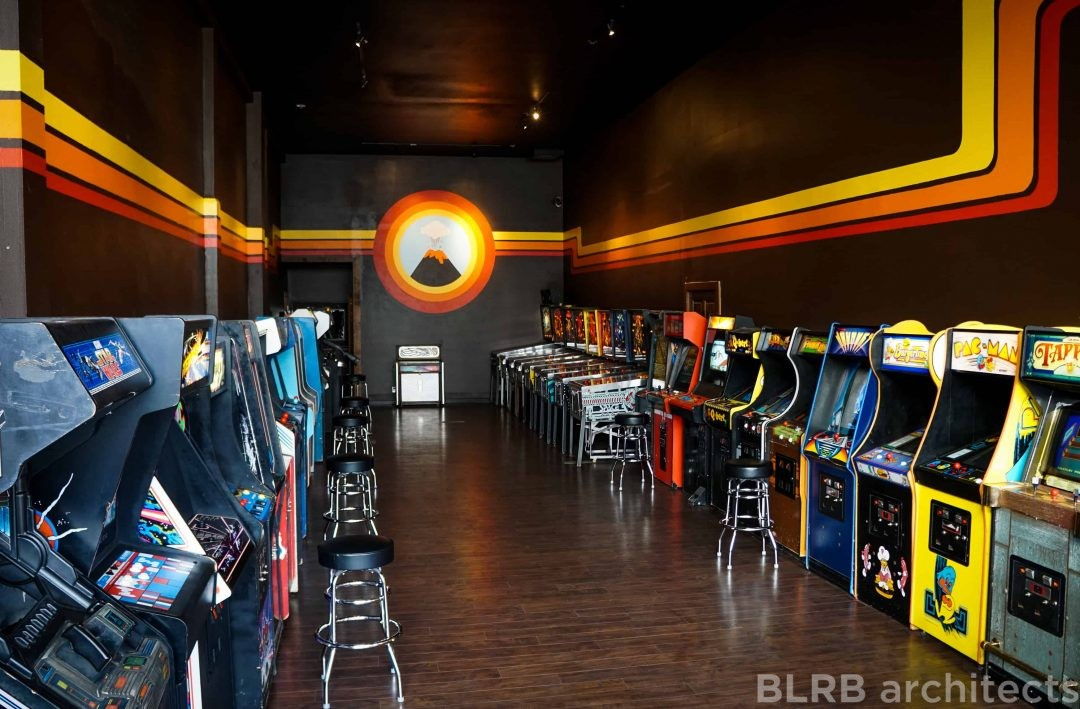 Vector Volcano Arcade