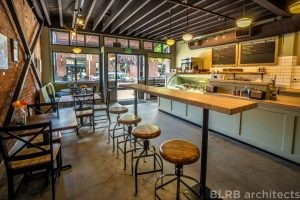 Commercial interiors at the Bonta Artisan Gelato Scoop Shop in downtown Bend