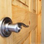 Bathroom door hardware for residential remodel