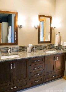 View of the bathroom vanity in a residential remodel