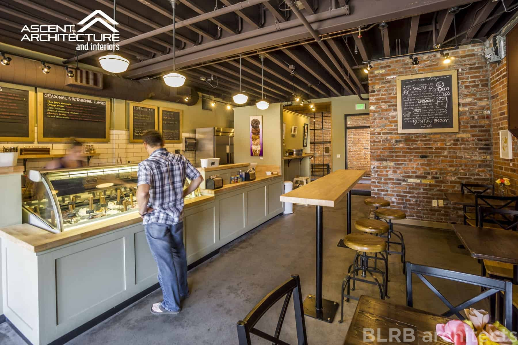 Bonta Gelato Scoop Shop Blrb Architects Formerly Ascent Architecture Interiors