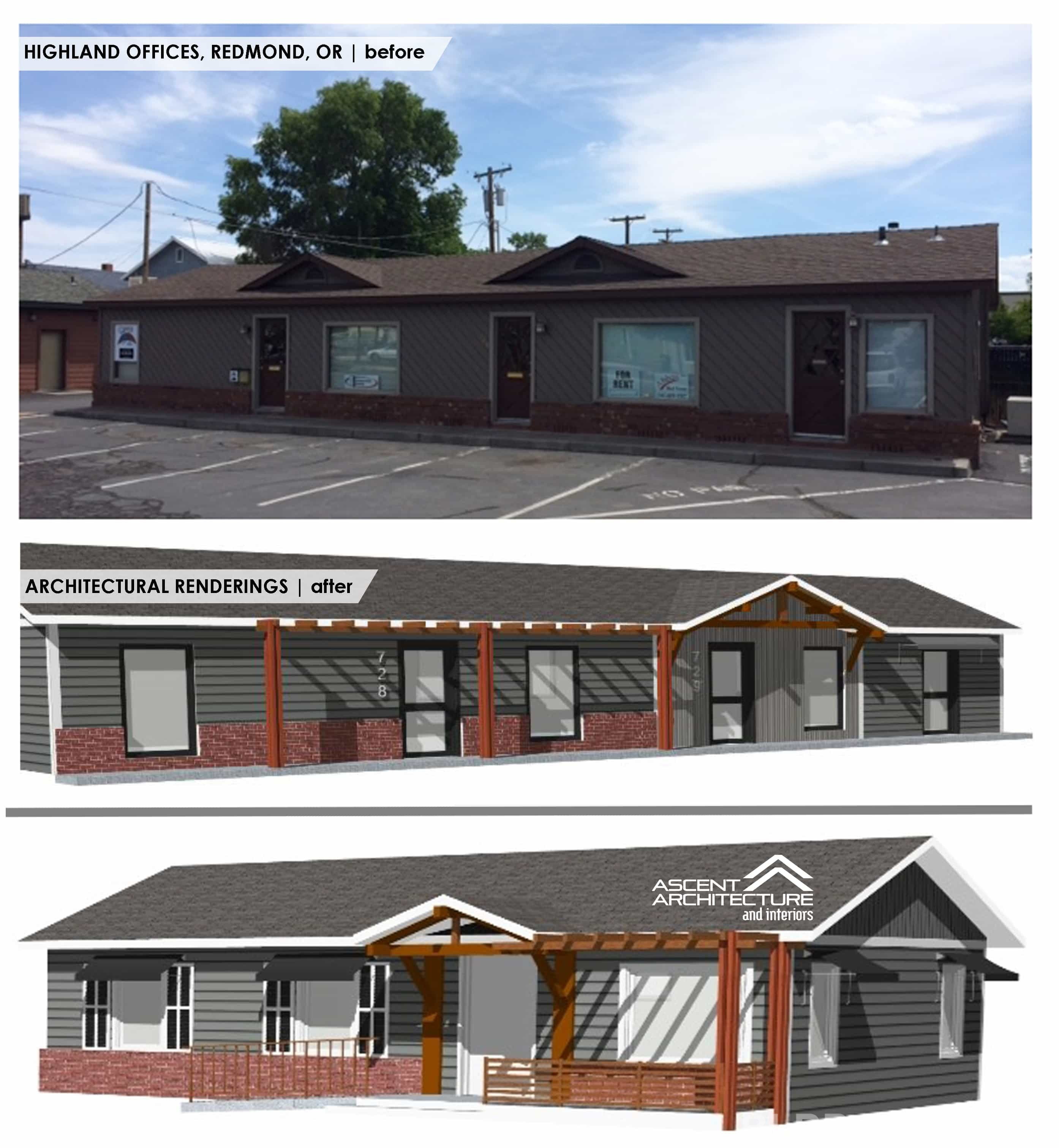 Bend Oregon Apartments: Highlands Office Facade Remodel » Ascent Architecture