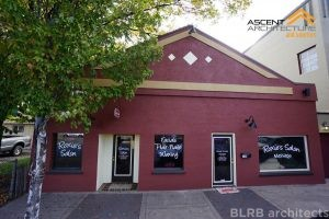 After photo of facade remodel of Roxie's Salon