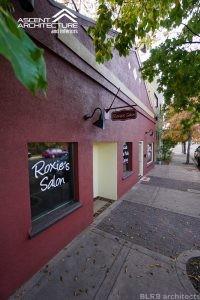 Facade remodel of Roxie's Salon in Redmond, Oregon